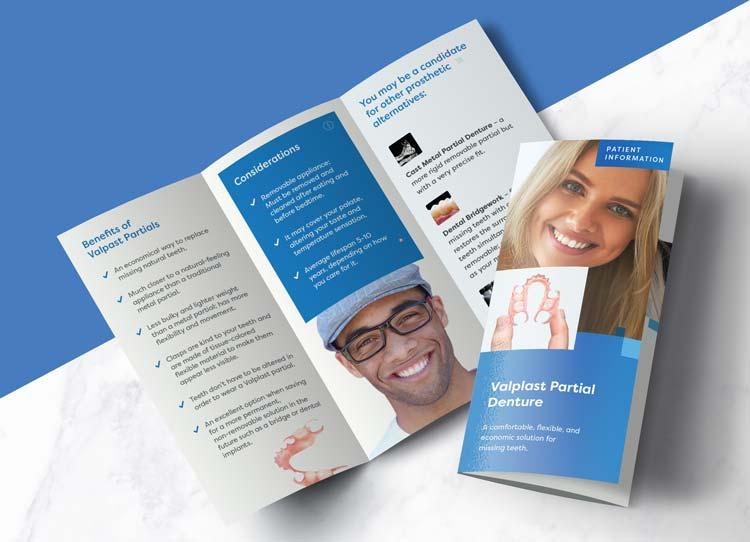 Valplast Partial Dentures - Patient Marketing Brochure
