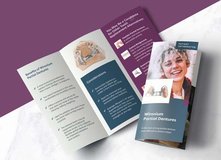 Wironium Partial Dentures - Patient Marketing Brochure