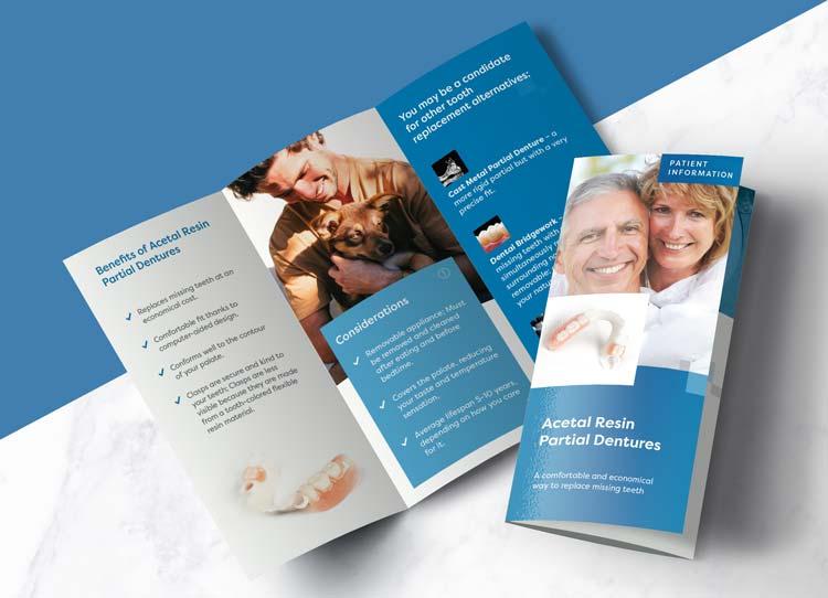 Acetal Resin Partial Dentures - Patient Marketing Brochure
