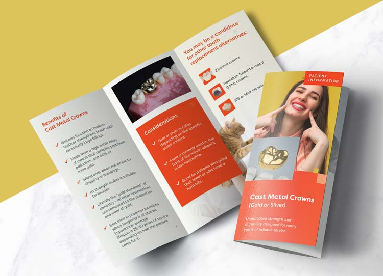 Metal Crowns - Patient Marketing Brochure