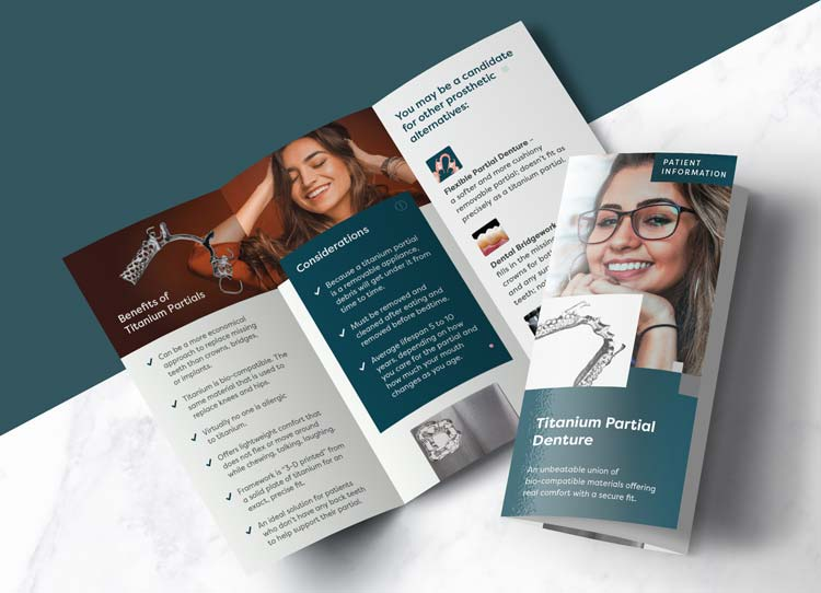 Titanium Partial Denture - Patient Marketing Brochure
