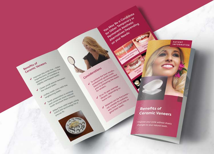 Ceramic Veneers - Patient Marketing Brochure