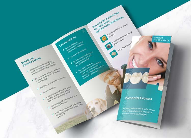 Zirconia Crowns - Patient Marketing Brochure